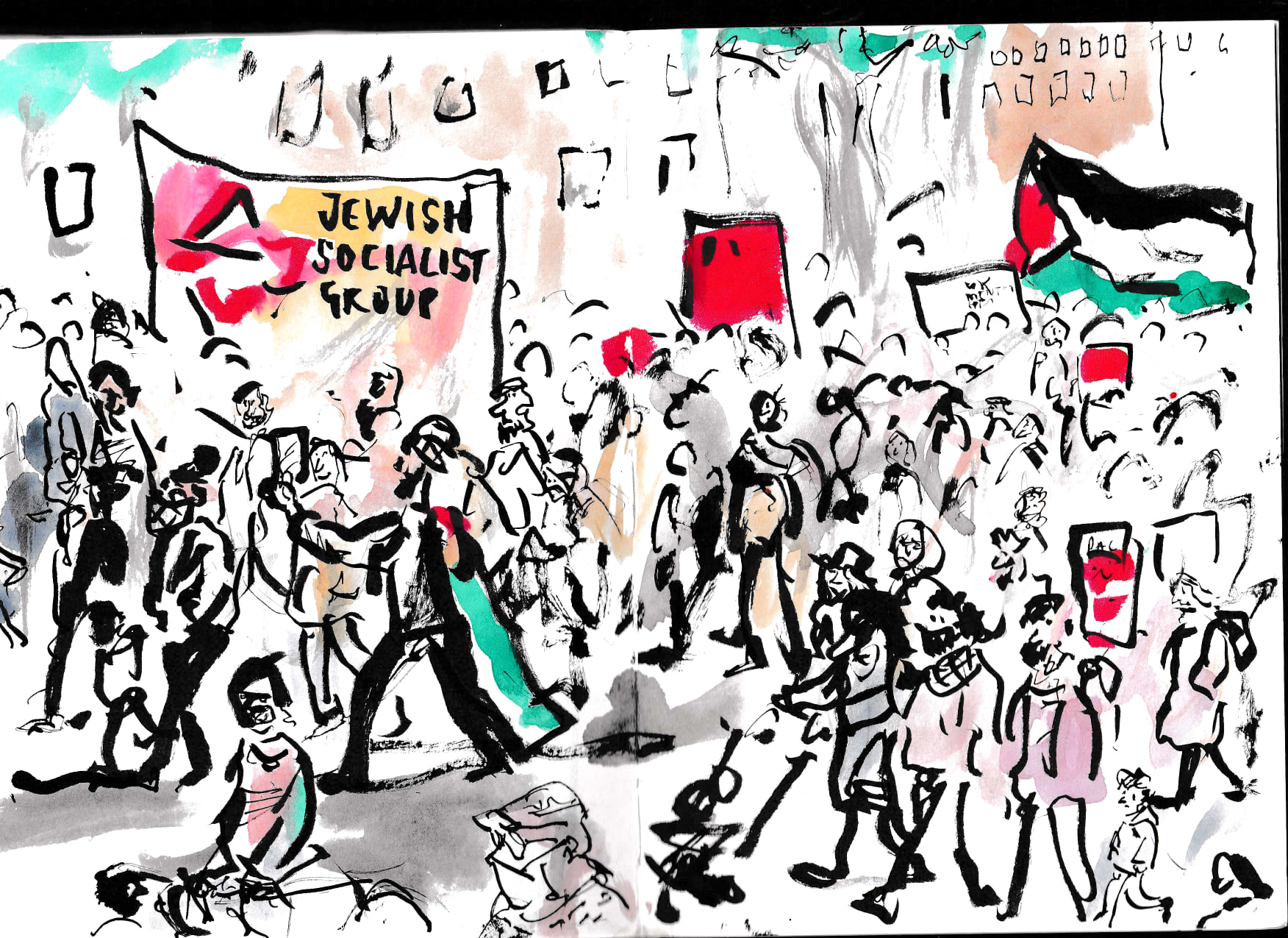 Jewish socialists support the Palestinians