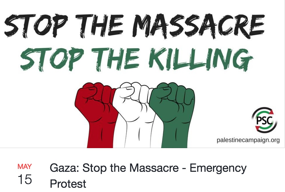 Gaza: Stop the Massacre – Emergency Protest