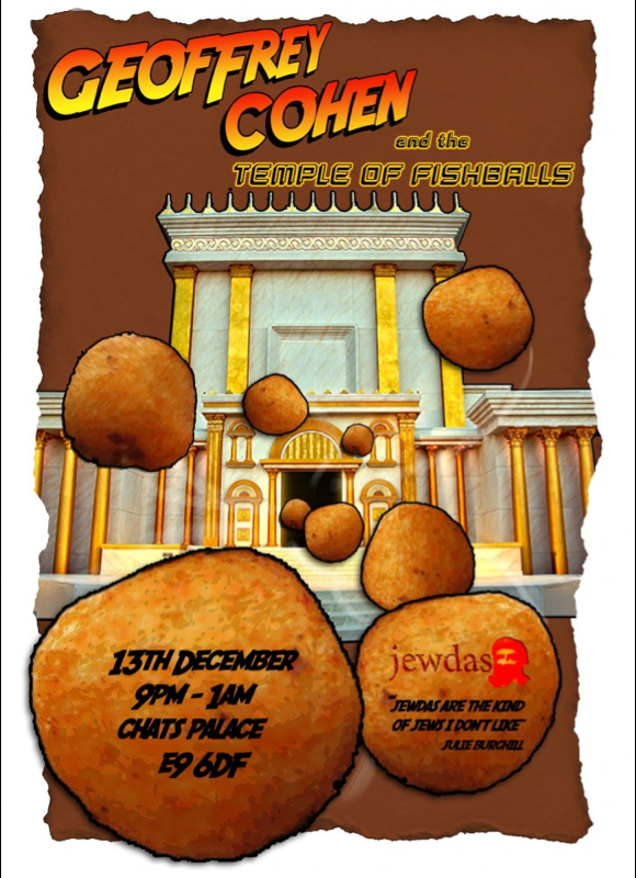 Geoffrey Cohen and The Temple of Fishballs, 13 December 2014